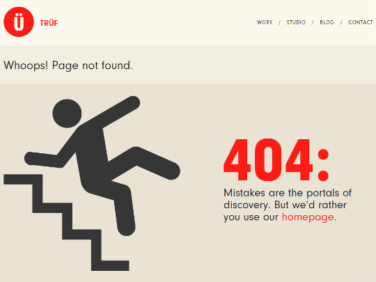 Creative 404 pages design